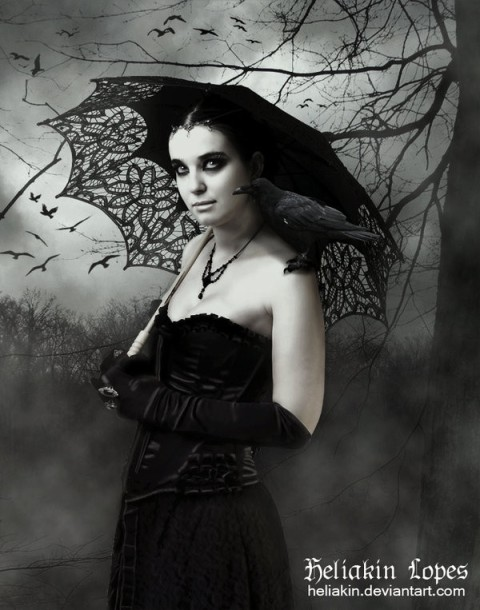 Gothic Woman in Mourning